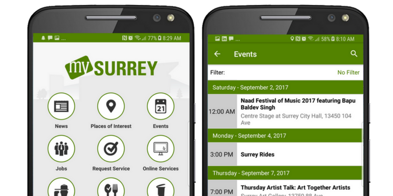 City of Surrey's Citizen Engagement Mobile App
