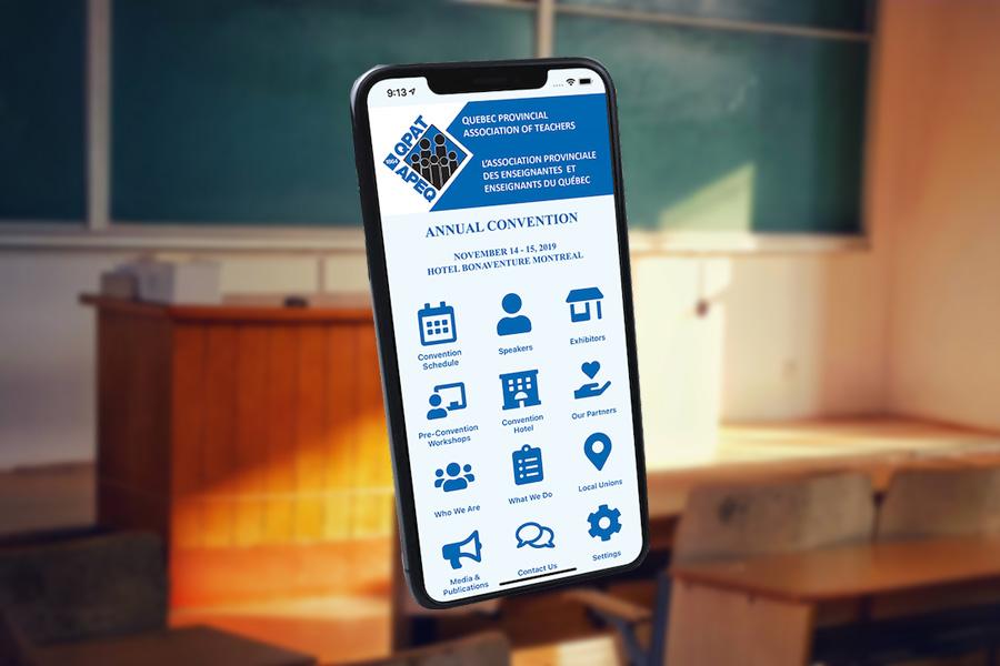 QPAT Launches a Mobile App for its 2019 Annual Convention! APEQ Lance Application Mobile Pour Leur Congrès Annuel 2019!